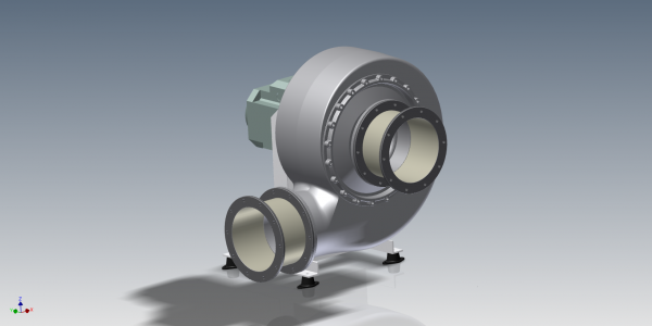 HF R 200-15 & 17D, L0 cw 90 Frame motor - View from front